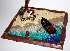 Pirates Island MOC (FM LEGO Creations) Tags: sea classic island treasure lego pirates palm pirate minifig fm diorama creations moc afol minifigures fmlego fmlegocreations