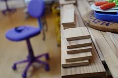 Lizland Artist Wood Workshop Purple Chair stock (Lynn Friedman) Tags: studio workshop artist lizland stock sanfrancisco lynnfriedman 94103 wood boards creativity