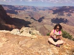 Reading in a beautiful place (KFiabane) Tags: krista bookclub bricklane grandcanyon arizona grandview