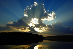 Evening cloud (sakarip) Tags: cloud clouds lake sakarip july summer evening luumki kontula pahainlahti finland water skyscape cloudscape lakescape reflection