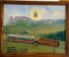 Italian tram history artefact (driek) Tags: italia railway rails drawing painting maria pietralba devotion history accident