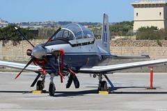 Beechcraft T-6A Texan II HAF 023, Malta International Airshow 2015 (Jeroen.B) Tags: flickr malta2015 beechcraft t6a t6 texan hellenic air force haf   polemik aeropora 023 pg23 361 training squadron mystras malta international airshow show mia airport 2015 mla lmml