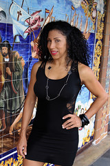 Columbian Beauty in Ybor City (California Will) Tags: edna latina beauty sheer blackdress beautiful hermosa ybor city tampa fl florida