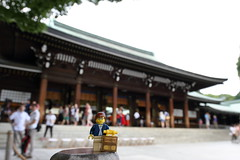 Travels of badger - Meiji Shrine (enigmabadger) Tags: brickarms lego custom minifig minifigure fig accessory accessories japan asia vacation trip travel outdoors japanese
