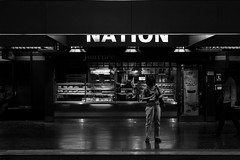 Divided nation (Lens a Lot) Tags: paris   2016 mmz helios 442   58mm f2 zebra version 1971 8 blades iris m42 f56 carl zeiss jena biotar russian copy manufactured ussr by minsk mechanical factory 1957 metro subway gate station underground dark darkness black white street photography vintage manual classic russia belorussia fixed prime