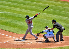 David Ortiz (BOS) Foul Tip - See the Ball (BlueVoter - thanks for 1.5M views) Tags: baseball beisbol redsox oakland ortiz papi bigpapi