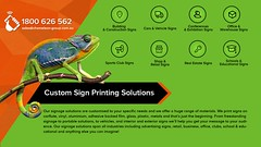 Custom Sign Printing Solutions - Chameleon Print Group - Australia (Chameleon Print Group) Tags: signprinting businesscards promotionalproducts graphicdesignservices printingservices labelprintingservices stickerprintingservices best binding bulk business colour commercial companies company corporate creative custom design digital document format fullcolour graphics highresolution largeformat local office offset print printers printing professional quality service services specialised specialists speciality spotcolour stationery trade wholesale wideformat australia australian queensland widebay frasercoast harveybay bundaberg marlborough sunshinecoast