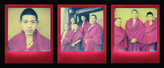 The Silk Route (Gabriele Cappello) Tags: monk tibet shangrila red film tip buddhism polaroid sx70