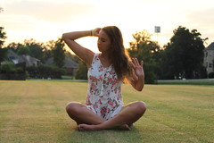 IMG_1076 (joshsagar) Tags: photoshoot pictures girl dress road smiles canon twirl golf course dab log water photography photos river arkansas central back roads sunset trees ar ark t5