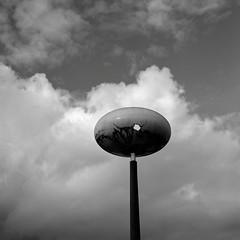 Lamp, Beaverton (austin granger) Tags: lamp beaverton broken hole decay time lamppost clouds cracked gf670 ufo waroftheworlds