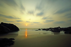 Last Light Of The Day (karthik Nature photography) Tags: longexposure morning travel sea summer sky sunlight inspiration seascape beach nature wet water beautiful stone mystery landscape outdoors photography