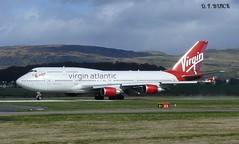 G-VROY BOEING 747-400 (douglasbuick) Tags: airport flickr glasgow aircraft aviation atlantic panasonic virgin boeing b747400 dmcfz50 egpf gvroy