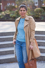blue sweater, boyfriend denim, trench coat-9.jpg (LyddieGal) Tags: blue fashion sweater spring outfit gap style trench denim wardrobe tjmaxx hobo oldnavy thrifted weekendstyle