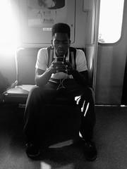 Next station Douglas Road, Douglas Road next station.   #b&w #street_photography #miami #florida #metrorail (Bruno Abreu) Tags: