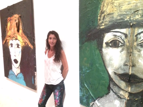 French artist Carolus at the opening of her show Ricart in gallery in Wynwood