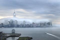 Gloomy Day I (laverrue) Tags: nyc fog skyline manhattan hudsonriver gothamist gotham colgateclock oneworldtradecenter