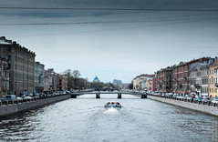 Saint Petersburg, may 2015 (Alexander Kozlov) Tags: street city bridge sky water river spring russia fujifilm saintpetersburg ru fontanka spb sanktpeterburg 2015 питер россия санктпетербург фонтанка петербург река fontankariver спб classicchrome fujinonxf1855mm fujifilmxe2