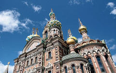 The famous one.. (roomman) Tags: old colour tower church beautiful architecture stpetersburg gold golden design big high cathedral russia decoration petersburg spire peter huge pete tall stpete russian orthodox pieter decorated stp builidng 2015 coloursful