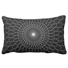 """Stick Spiral"" - Black & White Lumbar Pillow (CMY-KEY) Tags: fun design bedroom decor homedecor bedding patterndesign cameronprather chicagodecor"