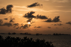 Sunrise over the Singapore Strait (Merrillie) Tags: landscape nature water d5500 sentosacove sea waterscape scenery nikon outdoor outdoors photography cloudscape singapore seascape atmosphere clouds sunrise sky