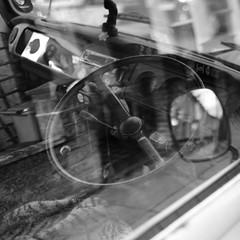 camper (Andrew Malbon) Tags: southsea leica leicam9 m9 summilux 35mmf14 vw vintage campervan volkswagen wheels car bw blackwhite portsmouth reflections transparency wabisabi street strongisland summer camping