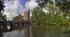 Brugge (xplorengo) Tags: bridge trees lake tower water architecture bomen meer belgium belgique belgie toren gothic brugge perspective belgi unesco be bruges brug brujas architectuur gotisch