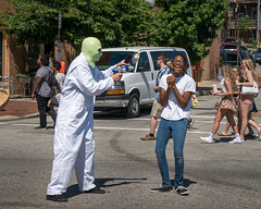 Aliens attack at Artscape 2016 (Dave Fine) Tags: laughing festival aliens art md city baltimore costume laugh artfestival unitedstates outside bmore clothing usa maryland artscape outdoors us