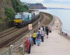 Class 68 Appreciation Society (Stapleton Road) Tags: class68 train locomotive teignmouth seawall