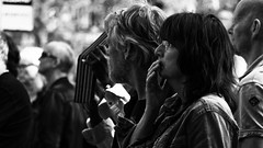 Maybe I'm Amazed? (Alfred Grupstra Photography) Tags: street portrait people blackandwhite bw man women streetphotography streetlife hoornsestadsfeesten