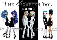 The Monster Idol season 2 in russian community (Klio.13) Tags: blackandwhite monster high dolls ooak custom mattel whisp customdolls ghoulia lagoonablue monsterhigh cleodenile ghouliayelps 13wishes portraitooak periserpentine themonsteridol