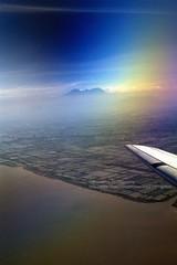 Flight to Lombok (blauepics) Tags: indonesien indonesia indonesian indonesische lombok island insel volcano vulkan meer sea mountain berg landscape landschaft clouds wolken fight flug aeroplane flugzeug arial view luftbild