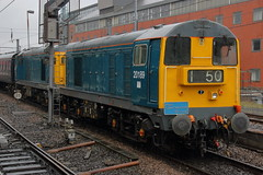 20142 20189 5Z52 (Rob390029) Tags: blue station train newcastle coast track diesel group central tracks rail railway loco class east rails operations locomotive 20 rog ncl mainline ecml 20142 20189
