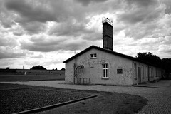 Sachsenhausen 1 (Josh C. F.) Tags: gay blackandwhite building museum clouds germany outside outdoors blackwhite europe sad nazi nazis eu communist communism lgbt jew jewish homosexual judaism grayscale concentrationcamp sachsenhausen nazigermany forcedlabor