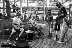 The New Stars (Vladi Stoimenov) Tags: munich germany street audience concert star stars bw excitement donate music streetmusic blackswhites