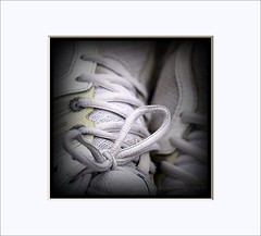 Tied & tested.... (Paul.Y-D) Tags: tied tested trainers laces frame abstract quirky