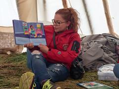 IMG_2451.JPG (creehealth) Tags: teepee mamoweedow fort george canada quebec cree james bay tipi indigenous eeyouistchee summer people story books storytelling