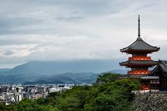 Kiyomizu-Dera Temple (KellarW) Tags: kiyomizuderatemple kyoto kiyomizudera orangetemple viewofkyoto view orange japan