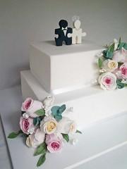 Torta de boda (mycake.nataliacasaballe) Tags: boda casamiento pareja puzzle novios diferente