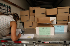 Packing Boxes on Truch (Greenpeace USA 2016) Tags: colorado ban fracking petition truck delivery fossilfuel oil gas denver coalition