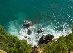 Mess (david_entertainment) Tags: rough sea blue lerici nofilter