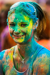 She Grew Up West of the Tracks (Thomas Hawk) Tags: festivalofcolors festivalofcolors2012 hindu holi jarviewalk jarviewalk2012 sanfrancisco spanishfork usa unitedstates unitedstatesofamerica utah fav10