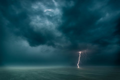 Lightning on Lake Geneva - apocalyptic (kichetof) Tags: clairs lightning orages laclman genevalake