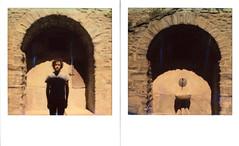 Cortona (La T / Tiziana Nanni) Tags: tizianananni neinostriluoghi cortona dittico diptych portraits impossible polaroid sx70 polaroidsx70 polaroidportrait due analogico analogue portraitsritratti ritratto polaroiders scan filmscan istantanea