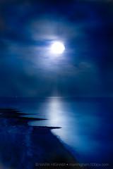 Midnight Shore (singulartalent) Tags: rottingdale uk brighton coast jetty moon moonlight rottingdean sea silhouette england unitedkingdom gb