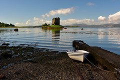 wild west (UndaJ) Tags: castle stalker scotland seascape reflections boats sea