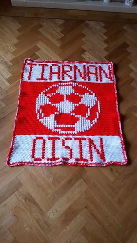 Liverpool football blanket for Tiarnan