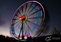 Ferris Wheel (cory.laycock) Tags: corylaycockphotography owen sound fallfair midway rides zerogravity night slowshutter led amusementpark neon colour ferris wheel albionamusements markdale