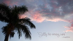 Softly, softly (judith511) Tags: sunset quote