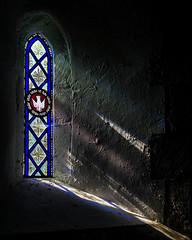 Sanctuary (hehaden) Tags: window stainedglass shadow church churchofstpeter rodmell sussex