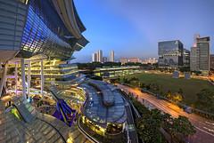 Singapore landscapes from Star Vista @ Bouna Vista (gintks) Tags: singapore singaporetourismboard bluehour gintaygintks gintks buonavistamrt landscapes sunsetglow shopping yoursingapore exploresingapore